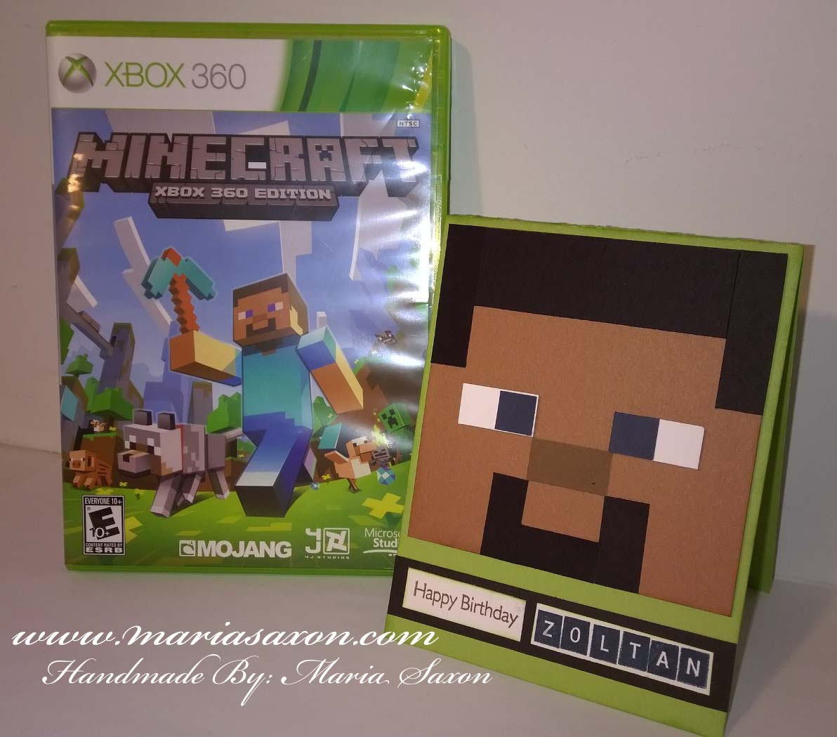 Minecraft birthday card welcome to my website minecraft minecraftcard bookmarktalkfo Image collections